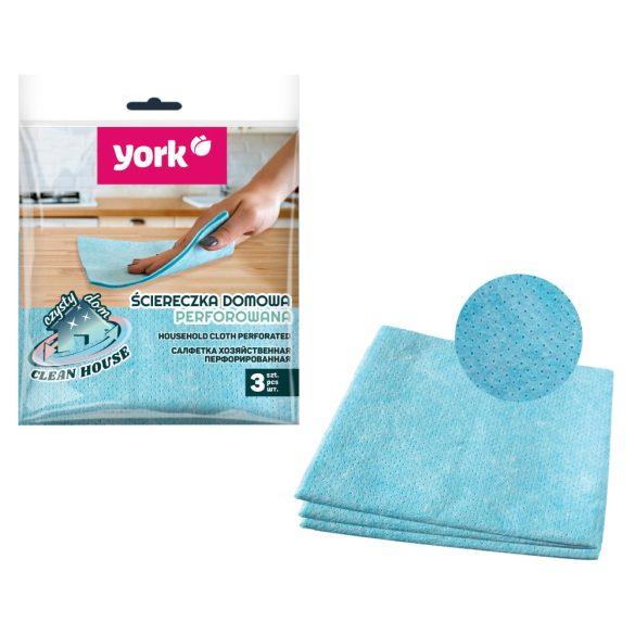 York törlőkendő perforált 3db
