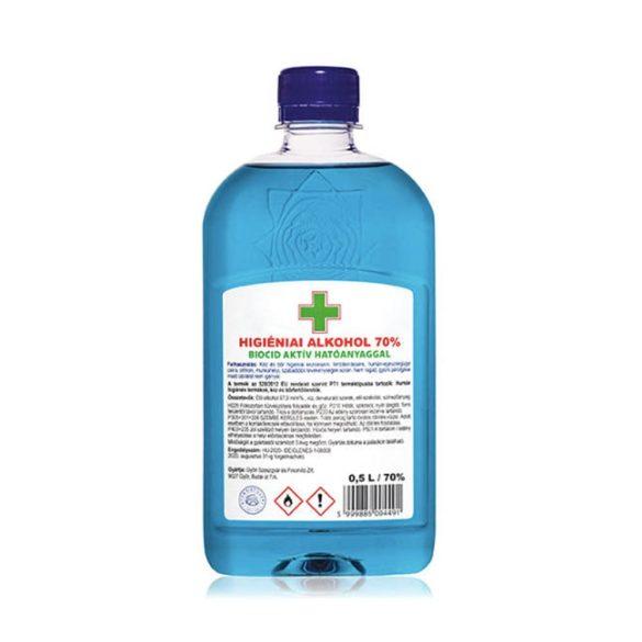 Kéztisztító alkoholos, biocid aktív hatóanyaggal, 70% alkoholtartalommal 500ml