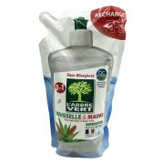 L'Arbre Vert Öko mosogató- és kézmosószer utántöltő aloe verával, 500 ml