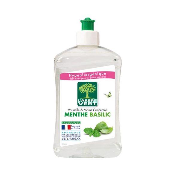L'Arbre Vert Öko mosogatószer menta-bazsalikom illattal, 500ml