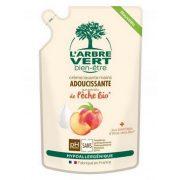 L'Arbre Vert Folyékony öko szappan utántöltő őszibarack kivonattal, 300ml