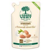 L'Arbre Vert Folyékony öko szappan utántöltő édes mandula kivonattal, 300ml