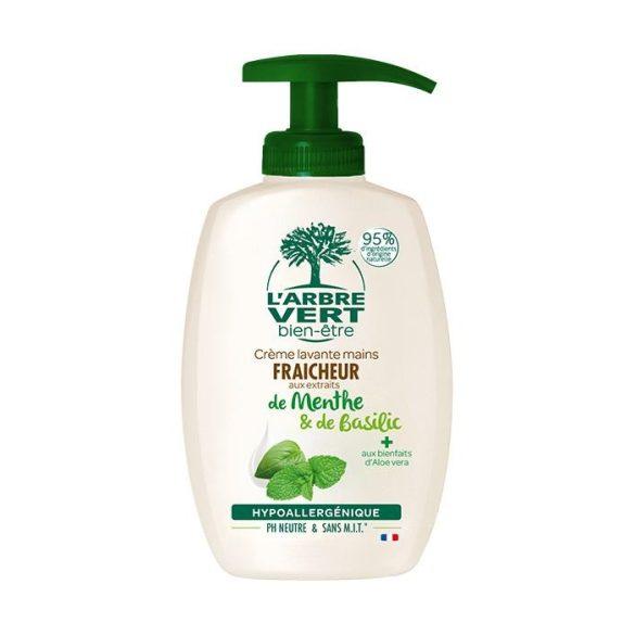 L'Arbre Vert Folyékony öko szappan menta-bazsalikom kivonattal, 300ml