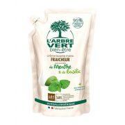 L'Arbre Vert Folyékony öko szappan utántöltő menta-bazsalikom kivonattal, 300ml