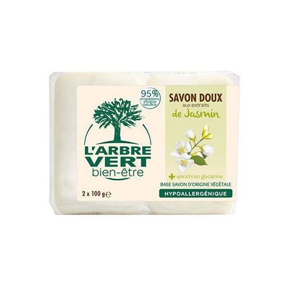 L'Arbre Vert Hidratáló szappan jázmin kivonattal, 2x100g