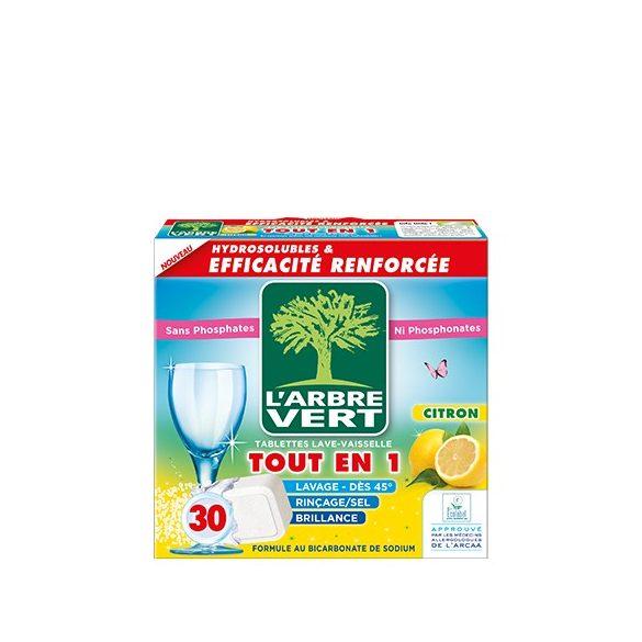 L'Arbre Vert Öko mosogatógép tabletta citrom illattal, 30db