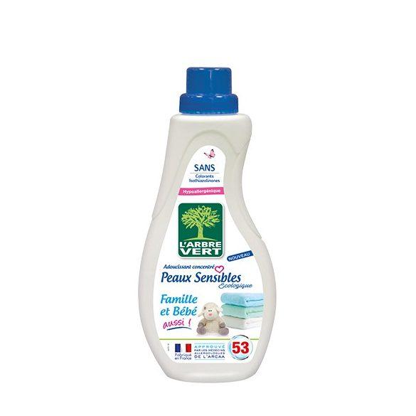 L'Arbre Vert Textilöblítő koncentrátum érzékeny bőrre - Családbarát,  800ml