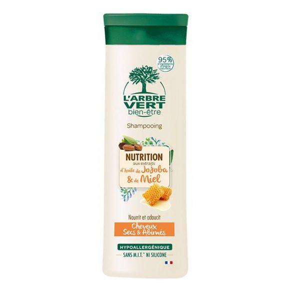 L'Arbre Vert tápláló sampon jojoba és méz kivonattal száraz, törékeny hajra, 250ml