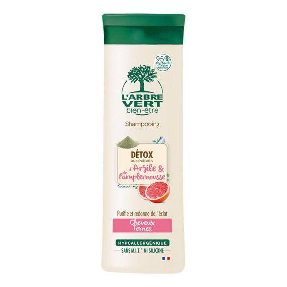 L'Arbre Vert tisztító sampon agyag- és grapefriut kivonattal élettelen hajra, 250ml