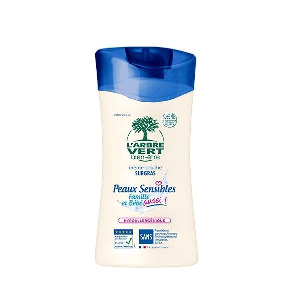 L'Arbre Vert Krémtusfürdő érzékeny bőrre - Családbarát, 250ml