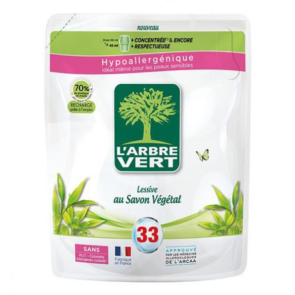 L'Arbre Vert Folyékony öko mosószer utántöltő növényi szappannal, 1,5L