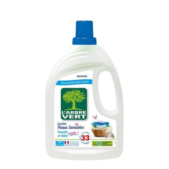 L'Arbre Vert Folyékony öko mosószer érzékeny bőrre - Családbarát, 1,5L