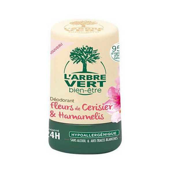 L'Arbre Vert roll-on cseresznyevirág ás varázsmogyoró kivonattal, 50ml