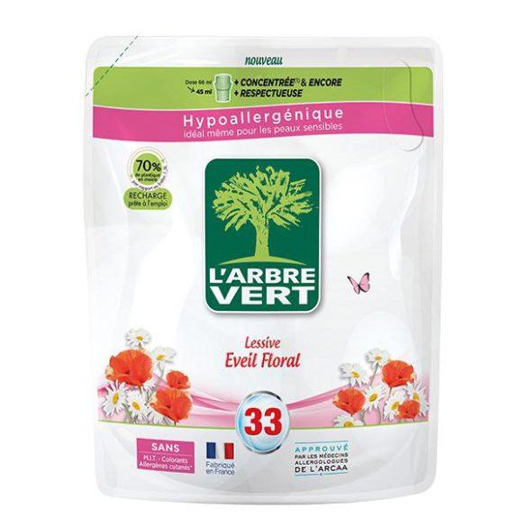 L'Arbre Vert Folyékony öko mosószer utántöltő növényi szappannal, virág illattal, 1,5L