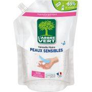 L'Arbre Vert Öko mosogatószer utántöltő érzékeny bőrre, 1000ml