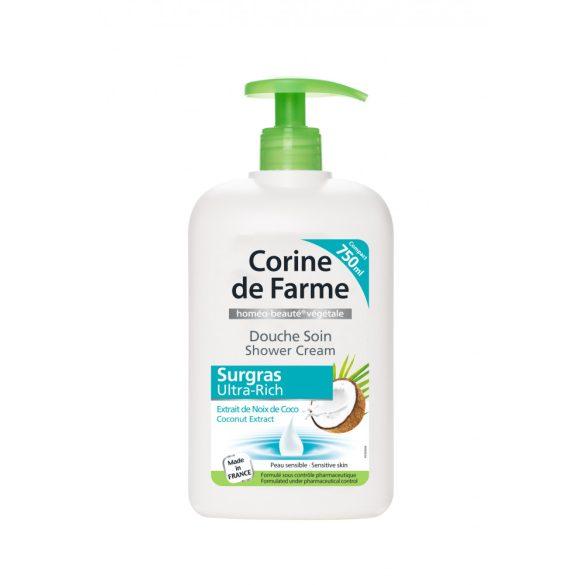 Corine de Farme pumpás krémtusfürdő kókuszdió kivonattal, 750ml