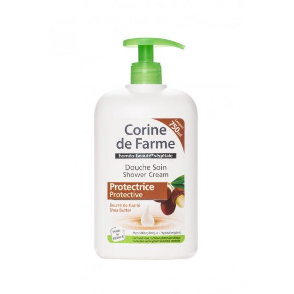 Corine de Farme pumpás krémtusfürdő shea vajjal, 750ml