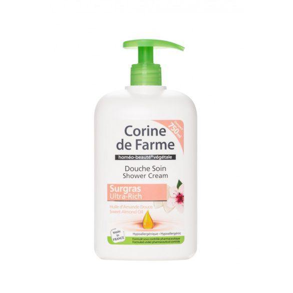 Corine de Farme pumpás krémtusfürdő mandula olaj kivonattal, 750ml