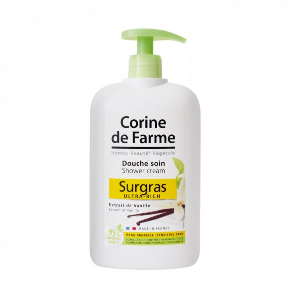 Corine de Farme pumpás krémtusfürdő madagaszkári vanília kivonattal, 750ml