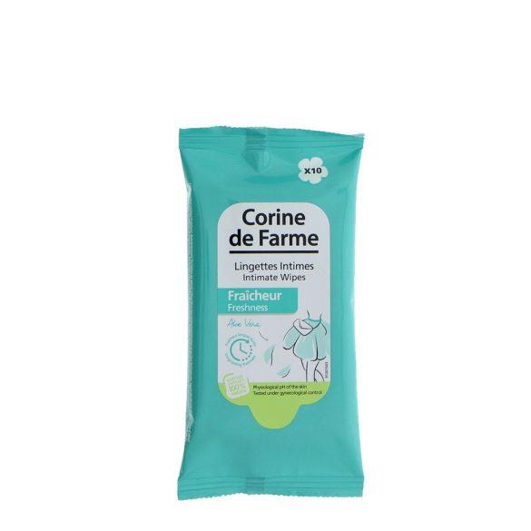 Corine de Farme Intim törlőkendő, frissítő, 10db