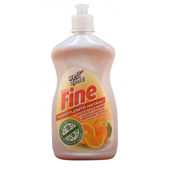Well Done Fine Fertőtlenítő mosogatószer Fresh Orange, 500ml