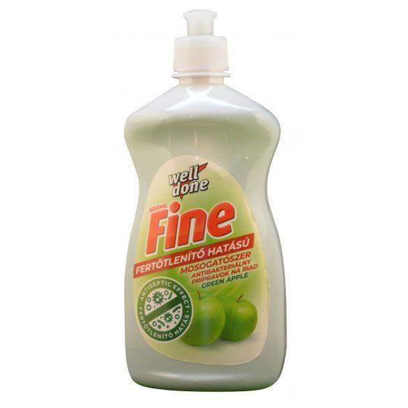 Well Done Fine Fertőtlenítő mosogatószer Green Apple, 500ml