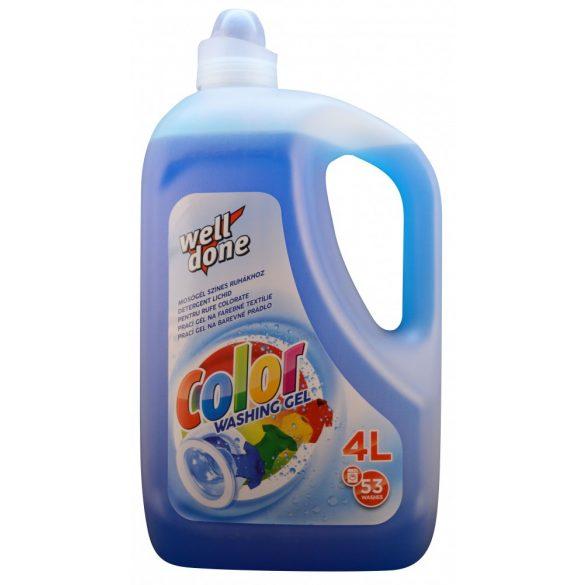 Well Done Fine mosógél színes ruhákhoz, 4L