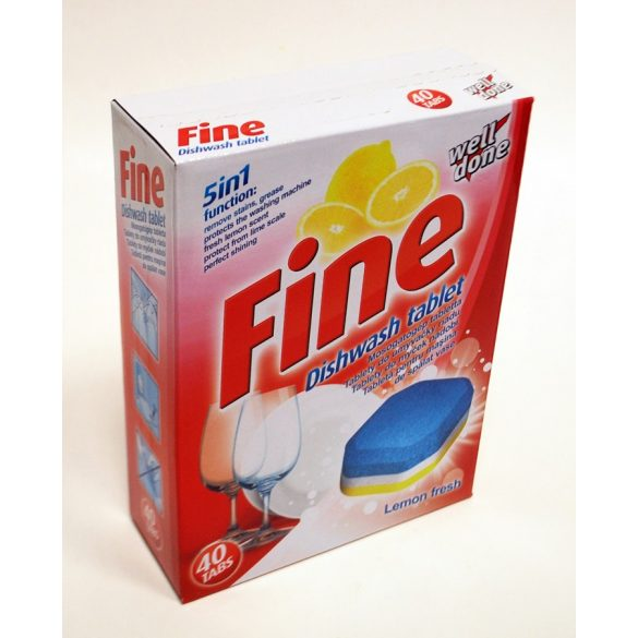 Well Done Fine mosogatógép tabletta 5in1 40/1