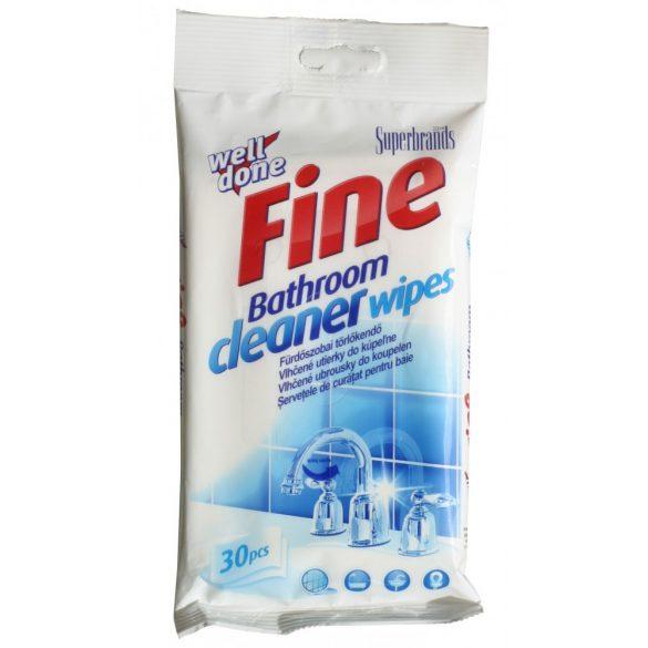 Well Done törlőkendő Fine eldobható fürdőszoba tisztítókendők  30 db