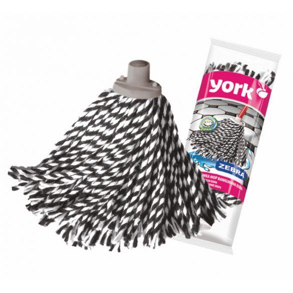York pamut mop Zebra