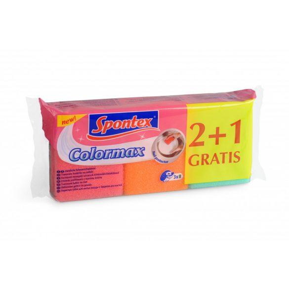 Spontex Colormax körömvédő mosogatószivacs 2+1 db