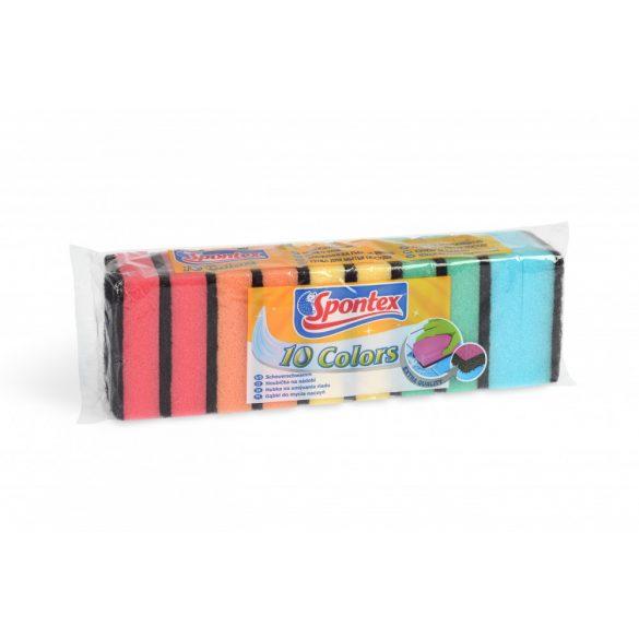 Spontex Colors mosogatószivacs 10 db