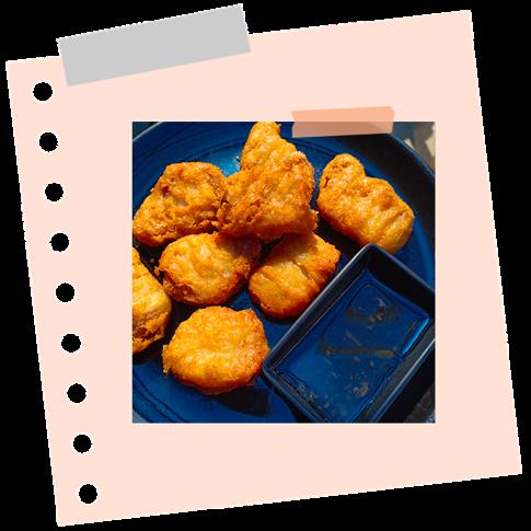 Csirke falatkák
