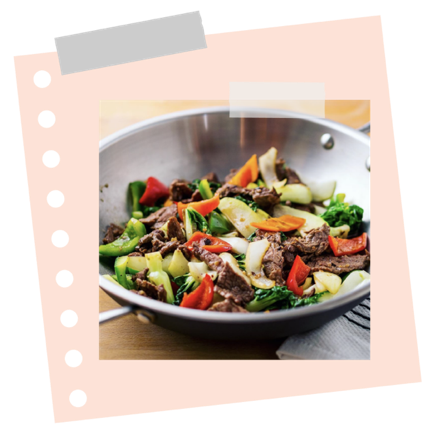 Marha wok ropogós zöldségekkel
